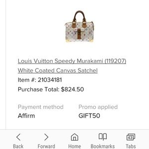 Louis Vuitton Murakami Speedy Bag